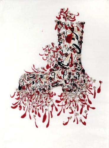 Lars Yang Berlumuran Darah Korban 1965 - Ilustrasi Karya Dadang Christanto